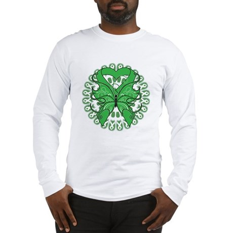 Liver Cancer Butterfly Long Sleeve T-Shirt