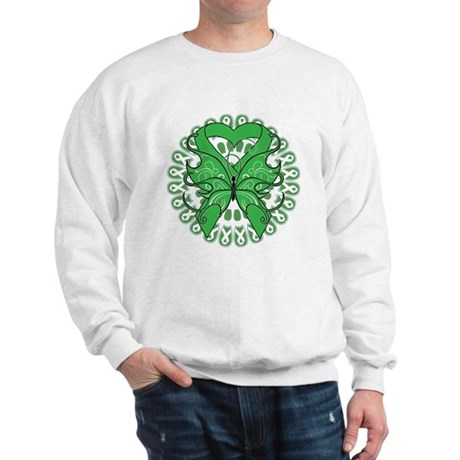 Liver Cancer Butterfly Sweatshirt