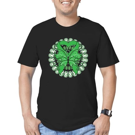 Liver Cancer Butterfly Men's Fitted T-Shirt (dark)