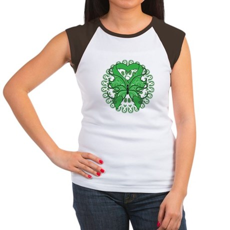 Liver Cancer Butterfly Women's Cap Sleeve T-Shirt