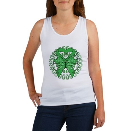Liver Cancer Butterfly Women's Tank Top