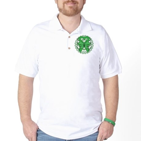 Liver Cancer Butterfly Golf Shirt