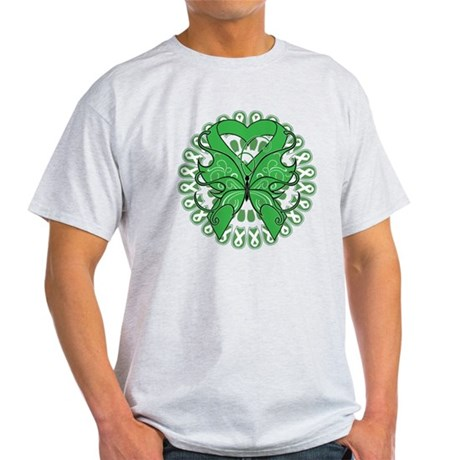 Liver Cancer Butterfly Light T-Shirt