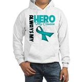 Ovarian Cancer Hero Cousin Jumper Hoody