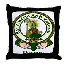 Duggan Clan Motto Throw Pillow
