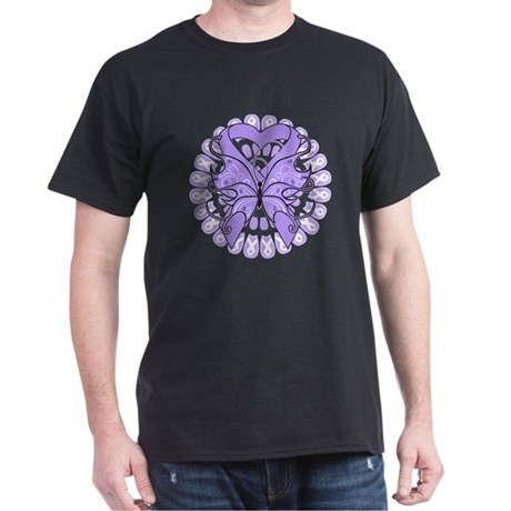 General Cancer Butterfly Dark T-Shirt