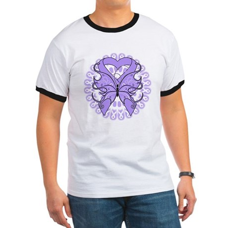 General Cancer Butterfly Ringer T