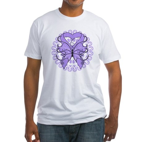 General Cancer Butterfly Fitted T-Shirt
