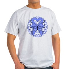 Esophageal Cancer Butterfly Light T-Shirt