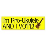 Pro Ukulele bumper sticker