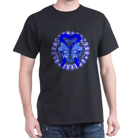 Colon Cancer Butterfly Dark T-Shirt
