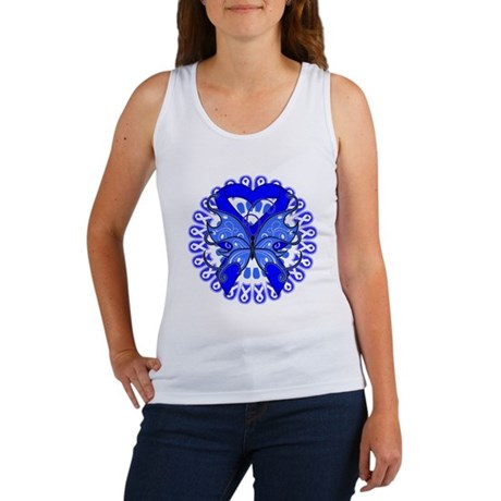Colon Cancer Butterfly Women's Tank Top