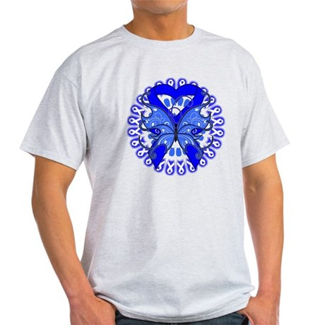 Colon Cancer Butterfly Light T-Shirt