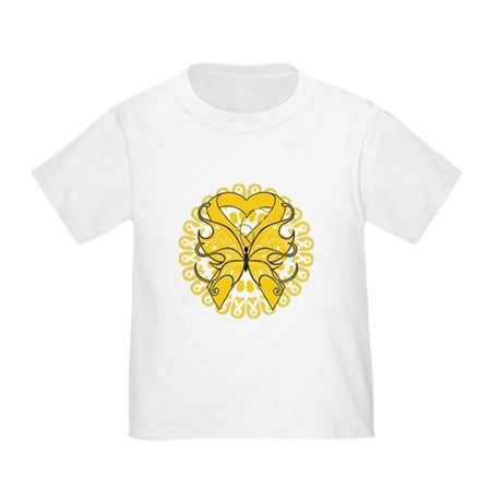 Childhood Cancer Butterfly Toddler T-Shirt