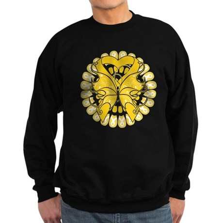 Childhood Cancer Butterfly Sweatshirt (dark)