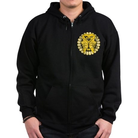 Childhood Cancer Butterfly Zip Hoodie (dark)