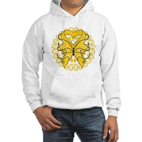 Childhood Cancer Butterfly Hooded Sweatshirt