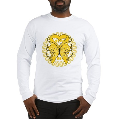 Childhood Cancer Butterfly Long Sleeve T-Shirt