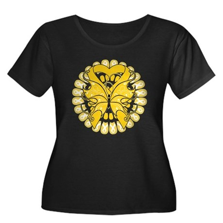 Childhood Cancer Butterfly Women's Plus Size Scoop