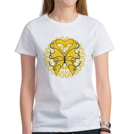 Childhood Cancer Butterfly Women's T-Shirt