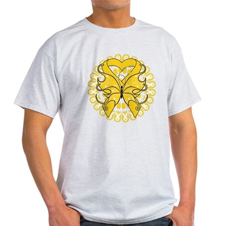 Childhood Cancer Butterfly Light T-Shirt