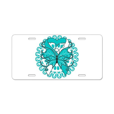 Cervical Cancer Butterfly Aluminum License Plate