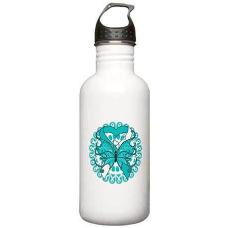 Cervical Cancer Butterfly Stainless Water Bottle 1