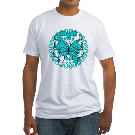 Cervical Cancer Butterfly Fitted T-Shirt