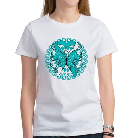 Cervical Cancer Butterfly Women's T-Shirt