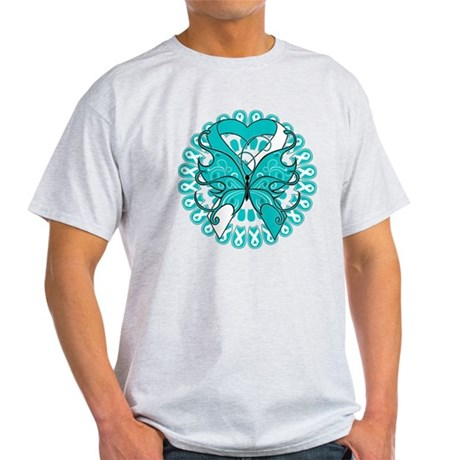 Cervical Cancer Butterfly Light T-Shirt