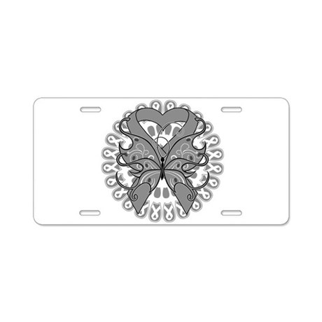 Brain Cancer Butterfly Aluminum License Plate