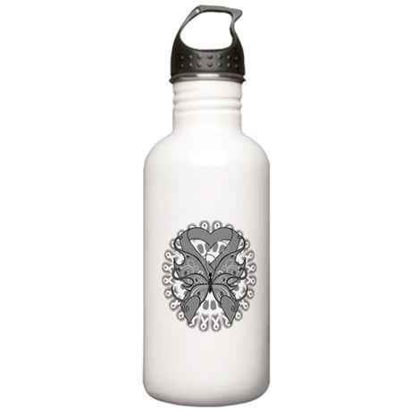 Brain Cancer Butterfly Stainless Water Bottle 1.0L