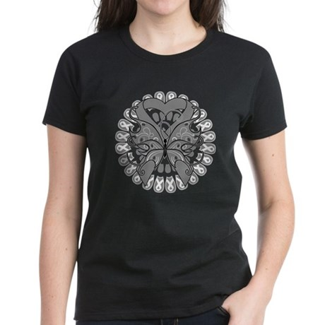 Brain Cancer Butterfly Women's Dark T-Shirt