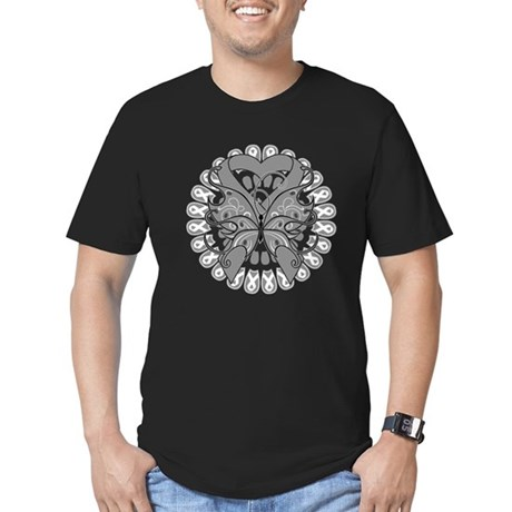 Brain Cancer Butterfly Men's Fitted T-Shirt (dark)