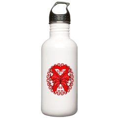 Blood Cancer Butterfly Stainless Water Bottle 1.0L