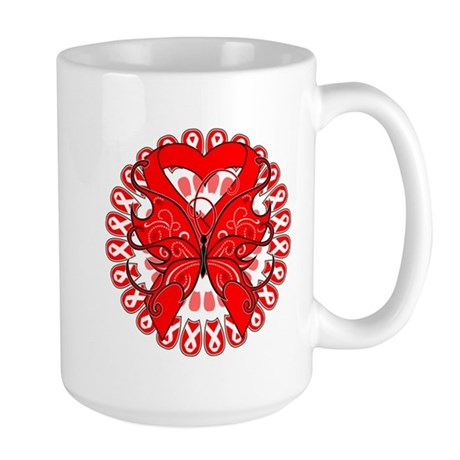 Blood Cancer Butterfly Large Mug