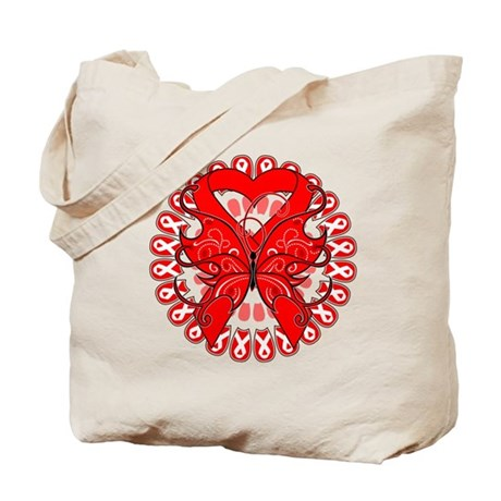 Blood Cancer Butterfly Tote Bag