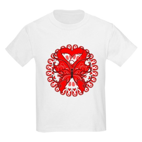 Blood Cancer Butterfly Kids Light T-Shirt