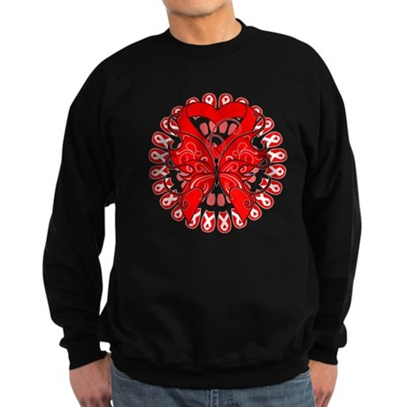 Blood Cancer Butterfly Sweatshirt (dark)