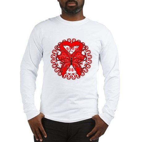 Blood Cancer Butterfly Long Sleeve T-Shirt