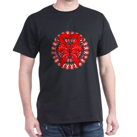 Blood Cancer Butterfly Dark T-Shirt
