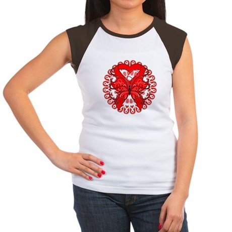 Blood Cancer Butterfly Women's Cap Sleeve T-Shirt