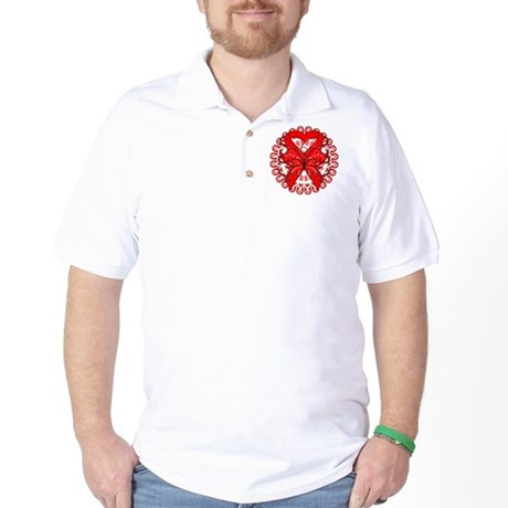 Blood Cancer Butterfly Golf Shirt