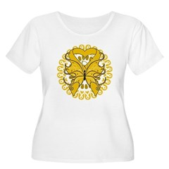 Appendix Cancer Butterfly Women's Plus Size Scoop