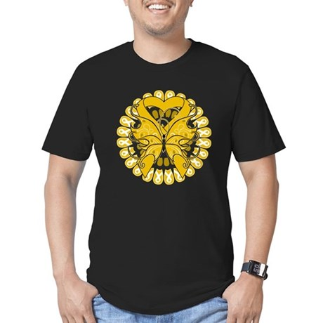 Appendix Cancer Butterfly Men's Fitted T-Shirt (da