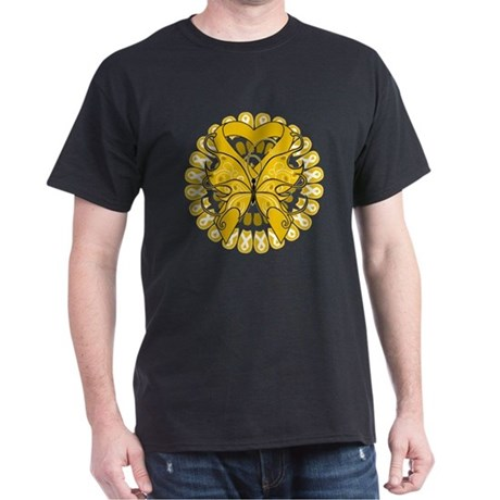 Appendix Cancer Butterfly Dark T-Shirt
