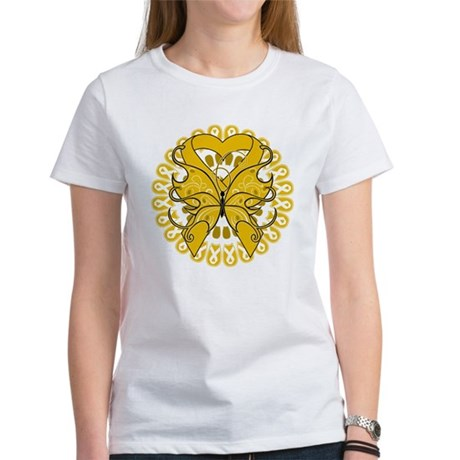 Appendix Cancer Butterfly Women's T-Shirt