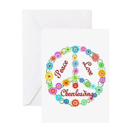 Cheerleading Peace Sign Greeting Card