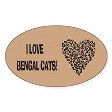 I Love Bengal Cats Decal