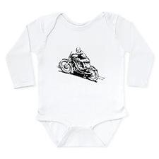 Vintage Motorcycle Long Sleeve Infant Bodysuit